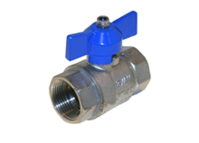 2-pcs. ball valve (Type 1050) T-handle