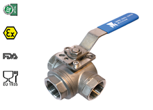 3-way ball valve (Type 1612 - T bore)