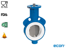 Butterfly valve PTFE lined (Type E4930)