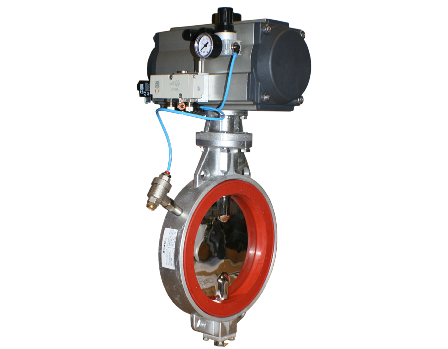 Butterfly valve with expanding liner