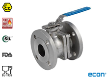 2-pcs. flange ball valve (Type E7289)