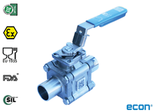 3-pcs. ball valve (Type 1351)