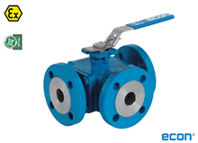 3-way flange ball valve (Fig. 7281)