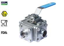 3-way ball valve (Type 1615 - T bore)