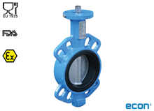 Food approved Wafer butterfly valve (Type E6330)