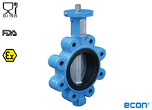 Food approved LUG butterfly valve (Type E6430)
