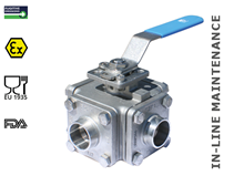 3-way ball valve (Type 1616 - T bore)